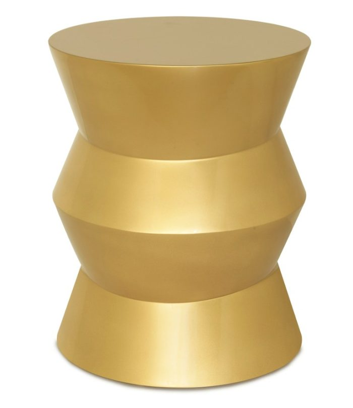 BOP END TABLE, LACQUERED GOLD