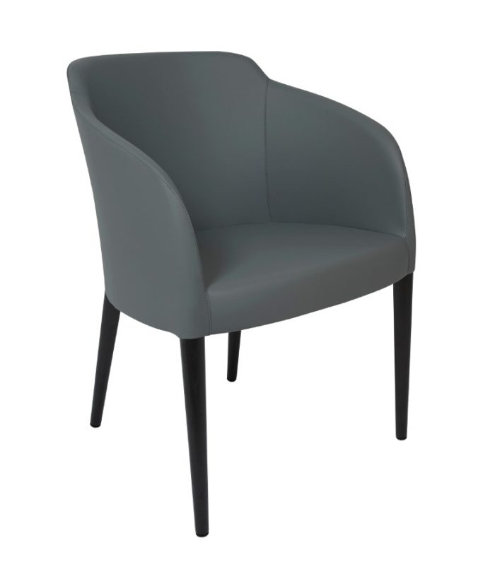 ESTE ARM CHAIR, GREY/WENGE