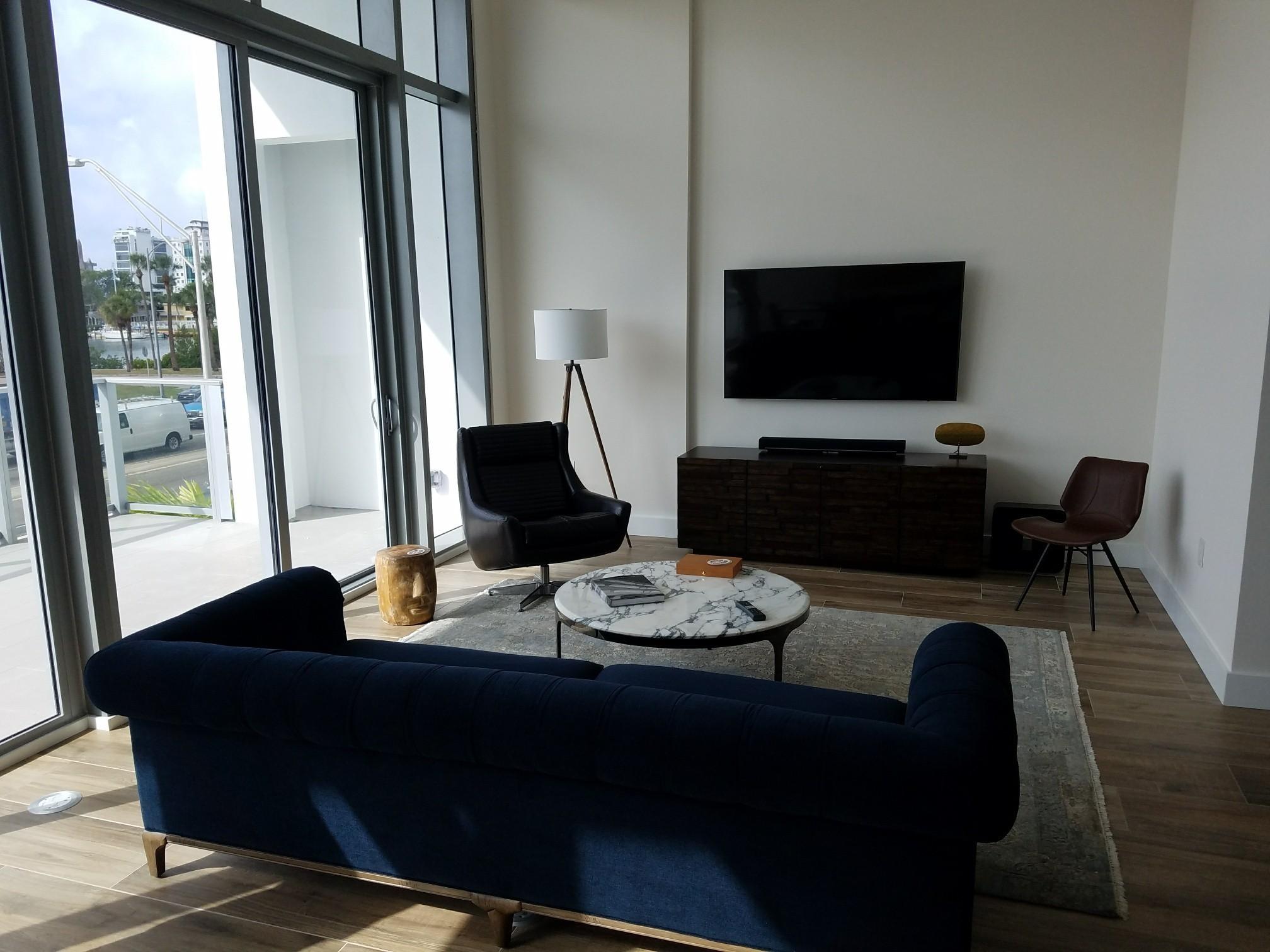 Bachelor pad designed at VUE Sarasota